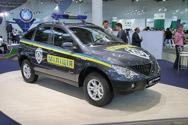 SsangYong Аctyon и Hyundai Tucson станут милицейскими