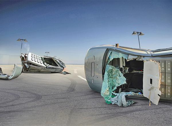 SMS за рулем – причина 6 тыс. аварий