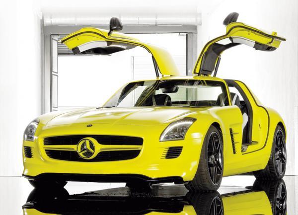 Mercedes-Benz SLS AMG E-Cell Concept: электрическое спорткупе