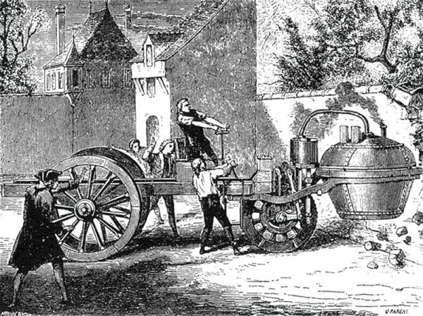 3-колесный паровой тягач Н.Ж. Кюньо
