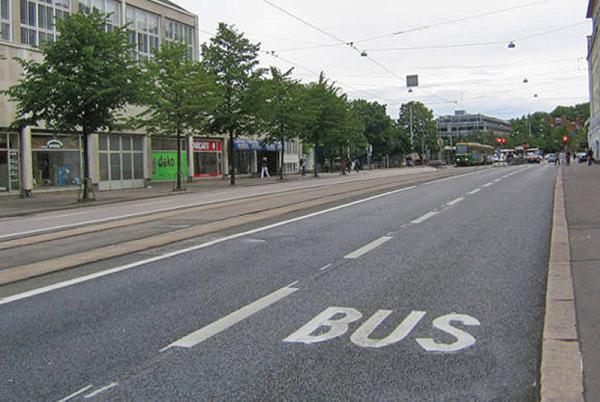 Специальная полоса движения для столичного общественного транспорта
