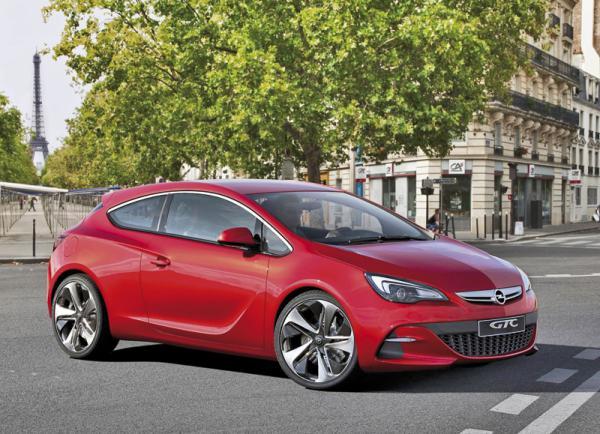 Opel GTC Paris Concept: предвестник трехдверного Astra