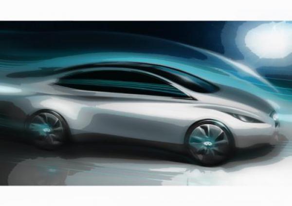 Infiniti показал эскиз своего электрического автомобиля