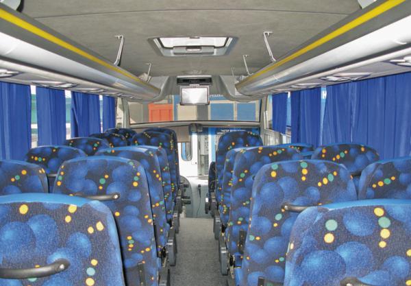 Пассажирские автобусы оборудуют ремнями