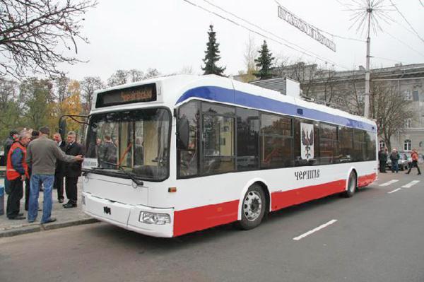 Новый троллейбус из Чернигова