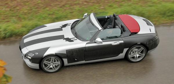 Mercedes-Benz SLS AMG Roadster проходит испытания